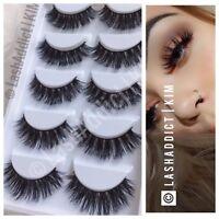 100% Mink Lashes Eyelashes 3D WISPY Eyelash Extension 5 Pairs New Makeup Fur