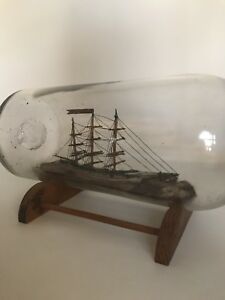 Antique Vintage Ship In A Bottle Circa 1900s? Nautical Schooner - Georgia Ship