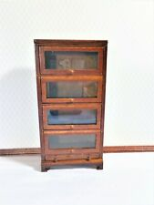 Dollhouse Miniature Tall Lawyers Barrister Bookcase with Doors 1:12 Scale Furnit