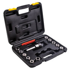 New listing Precision Er32 Collet Set Mt3 Shank Chuck & Spanner W/ Box For Milling Machine