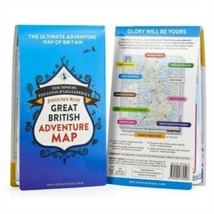 Great British Adventure Map OS and ST &G 9781999784508 Joyously great british