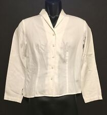 Talbots Petites Women's White Lite Weight Jacket/Heavy Shirt, Cotton - Size 6
