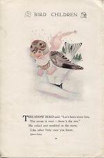 Elizabeth Gordon's Bird Children: Snow Bird. M.T.Ross 1912 lithograph print
