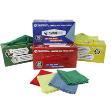 Box of 50 Microfiber Cleaning Rags - Lint Free 12x12 Color Options Disposable