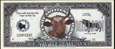 Million Note - Fantasy Money - Chinese Zodiac - Year of the Ox