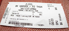 ticket for collectors EL BK Hacken - FC Thun 2013 Sweden Switzerland