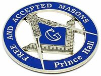"Masonic 3"" Free and Accepted Masons PRINCE Hall Car Emblem Blue / Silver DMCE12"