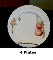"4 Salad Plates Japan Mikasa Maxima Belle Terre CAJ05 Fruit Ribbed Scallop 8.25"""