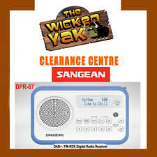 Sangean DPR-67 Rechargeable DAB+ / FM-RDS Digital Radio White/Blue+AUS WARRANTY