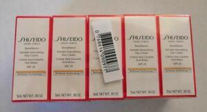 5 x Shiseido Benefiance Wrinkle Smoothing Day Cream SPF25 5ml each - 25ml total