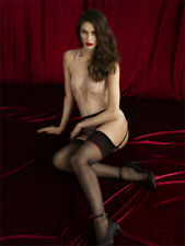 FIORE AMANTE  NEW PREMIUM QUALITY  AMOUR TOP  GARTER STOCKINGS 3 SIZE  BLACK