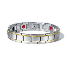 Men Therapeutic Health Energy Healing Titanium Steel Therapy Magnetic Bracelet