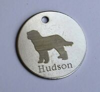 PERSONALISED GOLDENDOODLE DOG ID TAG AVAILABLE IN 3 SIZES & 9 COLOURS ENGRAVED
