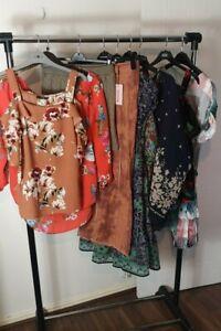 Womens Ladies Clothes Bundle Size 12 Midi Dress Skirt Blouse Shirt Top ZZ4