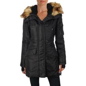 Aqua Womens Iceberg Winter Down Warm Parka Coat Outerwear BHFO 6013