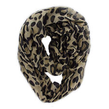 "Women's Fashion Stylish Leopard Animal Print Infinity Loop Scarf ( 37"" * 70 "")"
