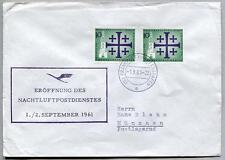 FFC 1961 Lufthansa PRIMO VOLO - Francoforte Monaco