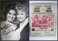 1972 Cabaret Poster + signed Lucie Arnaz Photo with Mom Lucille Ball Lucy COA