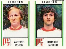 N°512 WOJCIK / LAFLEUR FC.LIMOGES VIGNETTE PANINI FOOTBALL 81 STICKER 1981