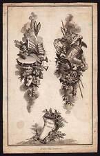 ALLEGORIE ATTRIBUT DE L'AMOUR dessinée par De La Fosse gravée par Tardieu 1780