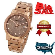 NEW Burberry  BU9135 Brown Rose Gold Stainless Steel Analog Quartz Women's Watch