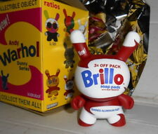 """Kidrobot Dunny Andy Warhol Series 3"""" Brillo Soap Pads White"""