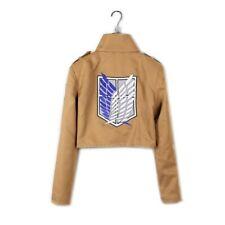 More details for hot anime shingeki no kyojin attack on titan jacket coat uniform cosplay costume