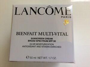 Lancome Bienfait Multi Vital 24 Hr Moisturizer Sunscreen SPF 30 1.7oz Sealed