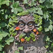 Tree Ent Face Leaf Plaque Wall Garden Ornament Greenman Myth Grumpshroom 80608