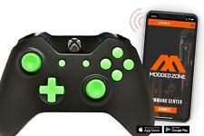 """BLACK/GREEN"" Xbox One S SMART Custom Rapid Fire Modded Controller. FPS mods.COD"