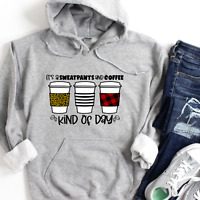 Sweatpants and Coffee,  Cute Womens Hoodies,  Hooded Sweatshirt Women, Gifts for