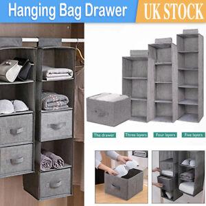 Tidy Hanger Hanging Wardrobe Storage Shelf Closet Organiser Clothes Shoe Box New