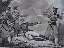 Gravure EMPIRE GENERAL DELEGORGUE RAGUSE DUBROVNIK CROATIE 1807 NAPOLEON 1815