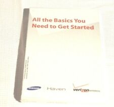 Samsung Haven Owner Manual Verizon Wireless 2010 English/Spanish