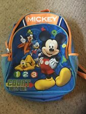 Pre Owned Disney Mickey And Me Backpack.  1 2 3 Count With Me!  Adorable!