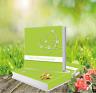 Gästebuch Hochzeit Hardcover Hochzeitsgästebuch Grün Lindgrün Herz +++ Qualität