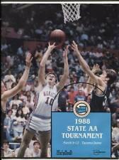 High School Basketball Program Washington Prep WIAA 1988 State AA HTF