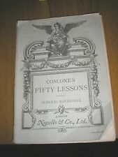 SHEET MUSIC BOOKS-CONCONE'S FIFTY LESSONS FOR MEDIUM PART OF THE VOICE RANDEGGER