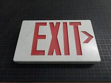 REPLACEMENT EMERGENCY EXIT SIGN, RIGHT EXIT, RED LENS, SINGLE FACED, 7X12, USED