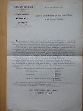 1866-TRASFERIMENTO A FIRENZE DELLA INTENDENZA GENERALE DELL'ESERCITO-VENETO