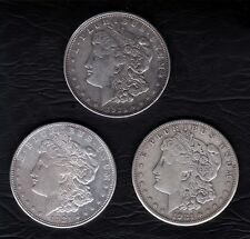 1921 P-D-S MORGAN SILVER DOLLARS RARE COLLECTIBLE KEY DATE LAST YEAR OF ISSUE