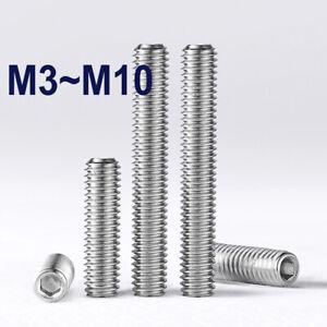 M3~M10 Cup Point Hex Socket Set Screws 316 Stainless Steel Cup-Point Set Screws