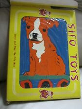 VINTAGE SIFO TOY WOODEN PUZZLE DOG COMPLETE