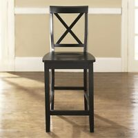 X-BACK BAR STOOL IN CLASSIC CHERRY FINISH WITH 24 INCH SEAT HEIGHT.  (SET OF ...