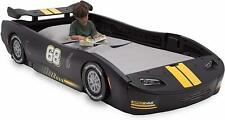 Race Car Bed Twin Boys Cool Bedroom Kids Furniture Car Black/Yellow
