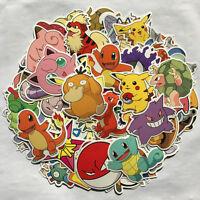 80 X GO Pikachu Cartoon Stickers POKEMON Skateboard Laptop Sticker Luggage Decal