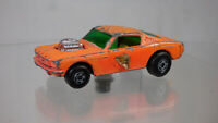 Vintage 1970  Matchbox Wildcat Dragster No 8 Ford Mustang Orange Diecast Toy Car