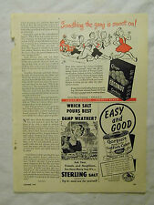 1949 Magazine Advertisement Page Gorton's Codfish Cakes Crispo Cookies Salt Ad