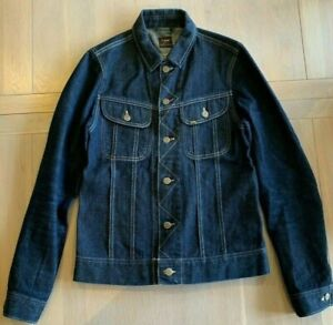 Lee 101-J Japanese Denim Rider Jacket. 13oz Selvedge Indigo. Unisex. Small.