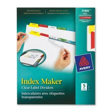 Avery Label Divider - For Laser Print - Recycled - 5 / Set - Multicolor